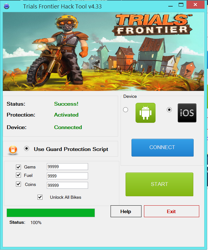 Trials Frontier Hack